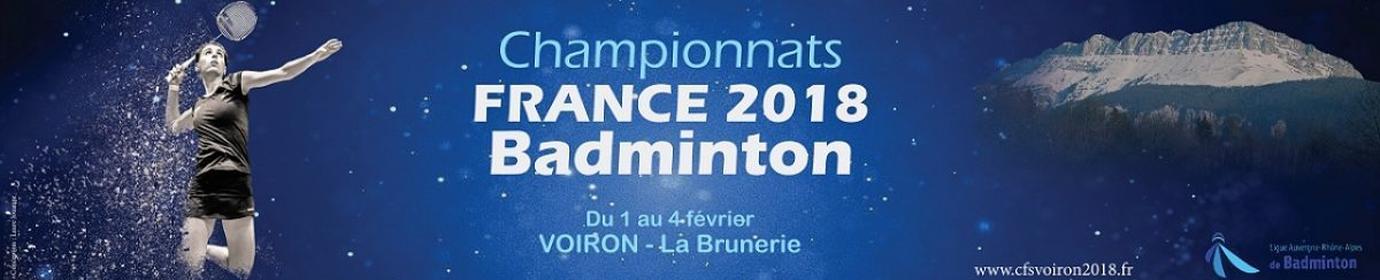 Championnats de France Badminton Voiron 2018